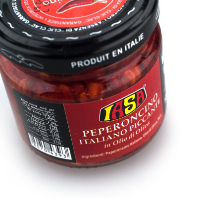 Chopped Hot Chilli Peppers in Olive Oil (100g)