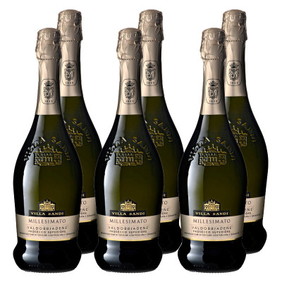 CASE of Prosecco DOCG Millesimato Brut - Villa Sandi (750ml)