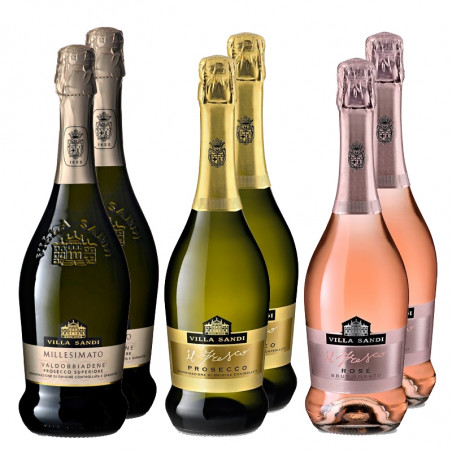 MIX CASE Prosecco, Rosé, Millesimato - Villa Sandi (750ml)