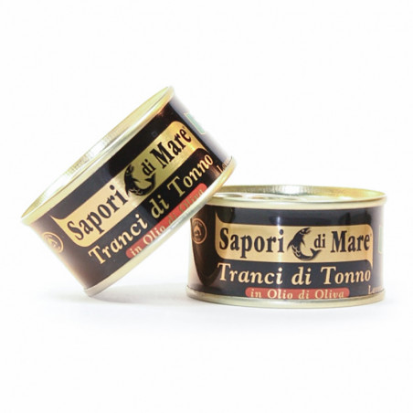"3 Cans of Yellowfin Tuna in Olive Oil ""Sapori di Mare"" (3x80gr)"