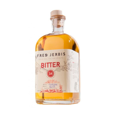 Bitter 34 (700ml)  - Fred Jerbis-cocktail-vegan-drink-veneto-70cl-bitter