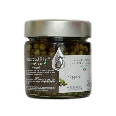 Sicilian Capers in Extra-Virgin Olive Oil (200gr)