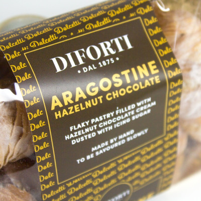 Aragostine Filled With Hazelnut cream (150gr)