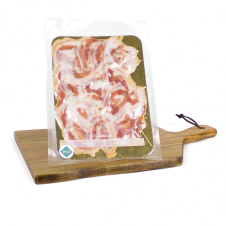Cured Pancetta Special Rolled Bacon sliced (80g)-bedogni-sliced pork-sliced bacon