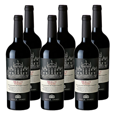 CASE of Merlot Venezia DOC 2014 Villa Sandi - (750ml)