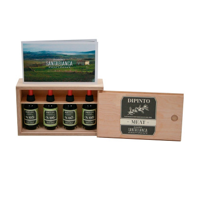 Box with 4 aromatic oils for meat (200gr)