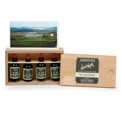 Box with 4 aromatic oils for Seafood (200gr)