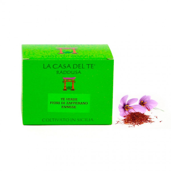 Saffron Flowers Sicilian Green Tea Leaves (50gr)