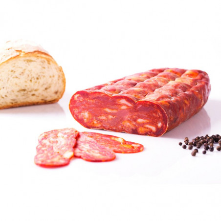 Spicy Schiacciata Salami sliced (80gr) - vacuum packed-sliced salami-suppa