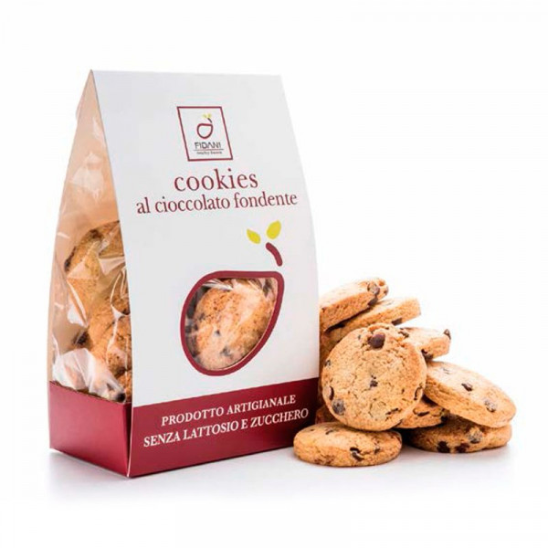 Lactose-free & Sugar-free Oat Cookies with Dark Chocolate chips (200g)