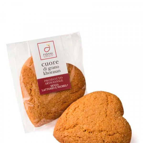Lactose-free Khorasan Biscuit (50g)-lactose free-biscuit-heart shaped biscuit-fidani-cuore di grano khorasan