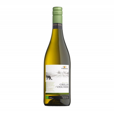 Organic Grillo Viognier Terre Siciliane IGP 2016 (750ml) - Santa Tresa-white wine-fruity wine-sicilian wine-grillo grape wine