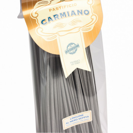 Squid Ink Linguine (500g) - Pastificio Carmiano