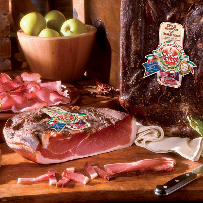 Speck (80g) vacuum packed - Bedogni-sliced speck-sliced meat-smoked ham