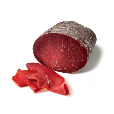 Bresaola Punta d'Anca (80g) vacuum packed - Bedogni-deli meat-bedogni-cured meat-sliced meat-
