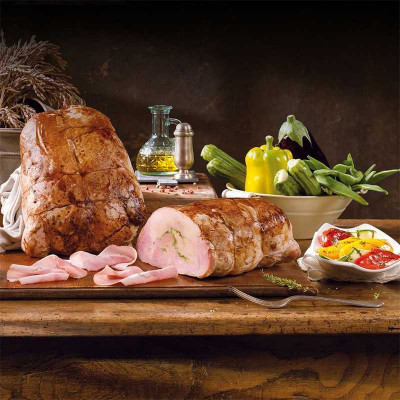 Chicken roasted and stuffed with spinaches and Parmesan (80g) vacuum packed - Bedogni