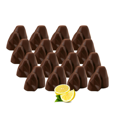 Box of 16 Chocolate Faraglioni Lemon Cream filling (100g) - Peccati Di Capri