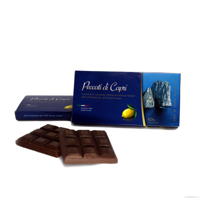 Chocolate bar with lemon...