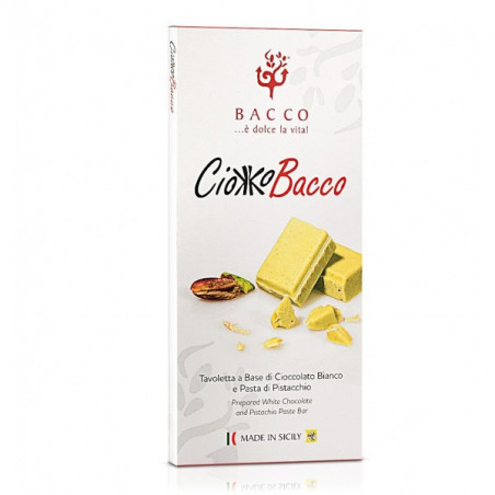 Chocolate bar-bacco-100g-pistachio chocolate bar-pistachio chocolate-italian chocolate