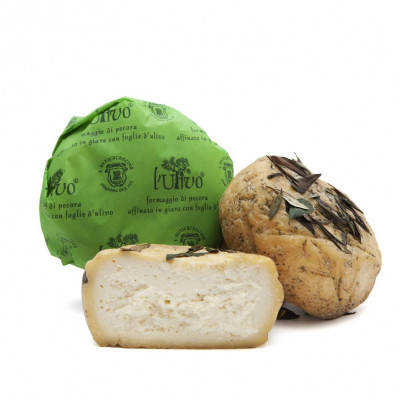 """L'Ulivo"" Cheese - Aged in Olive Leaves (400g)"