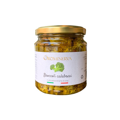 broccoli in olive oil-270g-broccoli calabresi in olive oil-orominerva-broccoli