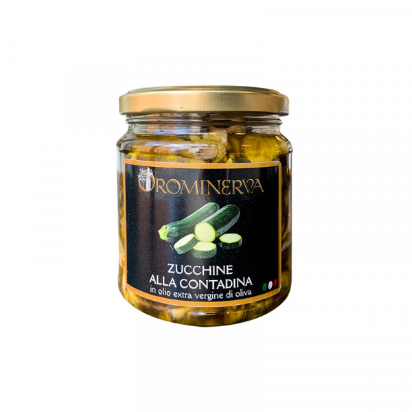 courgettes in oil-marinated courgettes-270g-orominerva-courgettes