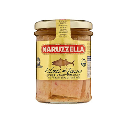 Tuna fillets in olive oil-180g-maruzzella-tuna-tuna fillets-tuna in olives oil