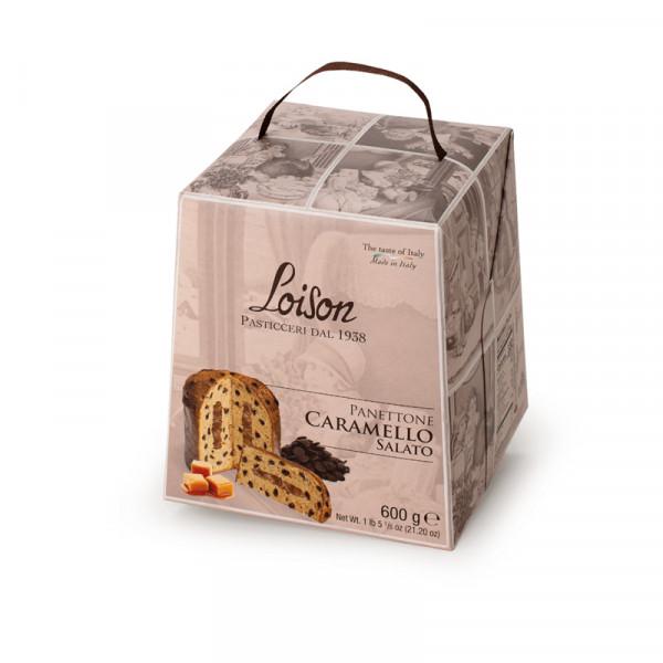 Salted caramel panettone-600g-dolciaria loison-caramel panettone-panettone al caramello salato