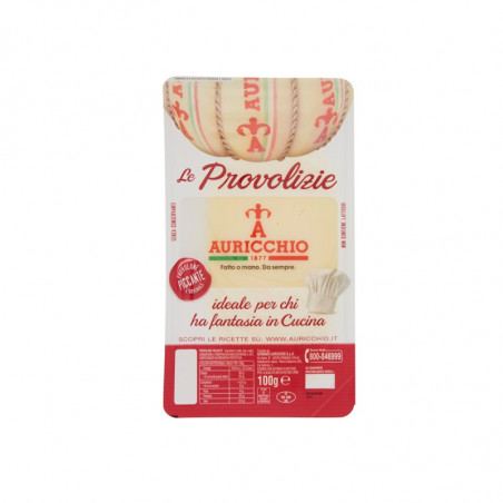 sliced provolone-auricchio-100g-spicy provolone-cheese-provolone cheese-provolone in thin slices