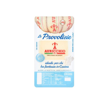 sliced provolone-auricchio-100g-sweet provolone-cheese-provolone cheese-provolone in thin slices