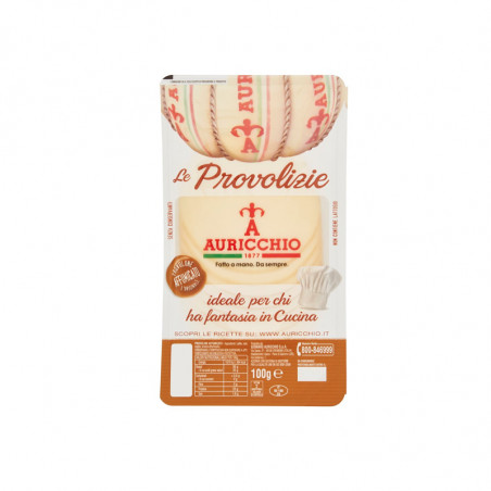 sliced provolone-auricchio-100g-smoked provolone-cheese-provolone cheese-provolone in thin slices