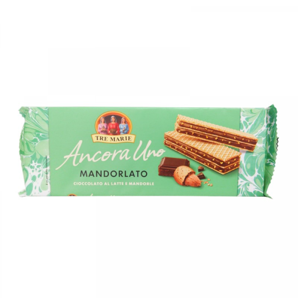 Wafer almond and chocolate-140g-tre marie-chocolate-wafer-wafer mandorlato-biscuit