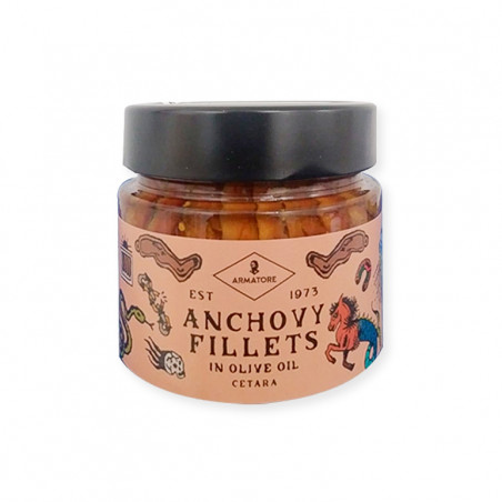 Anchovies from cetara in olive oil-195g-armatore-anchovies in olive oil