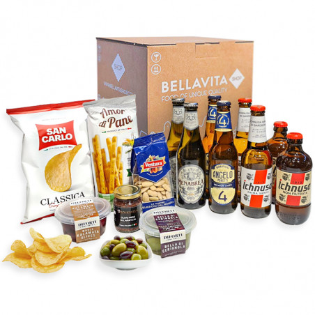 Beer hamper-beer box-italian beer hamper-italian beer box-beer starter pack-match starter pack-football starter pack-ichnusa