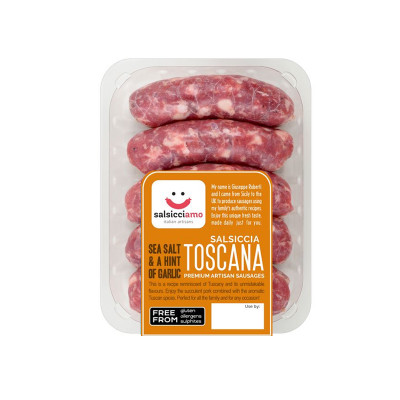 salsicciamo-500g-fresh sausages-tuscan sausages-sausages with garlic