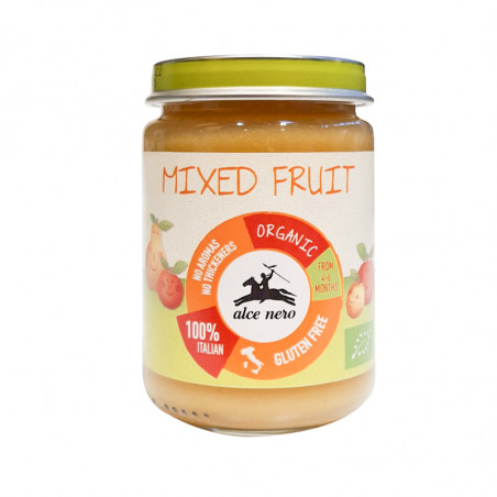 Organic mixed fruit purée baby food-140g-alce nero-mixed fruit-baby food-purée-fruit purée