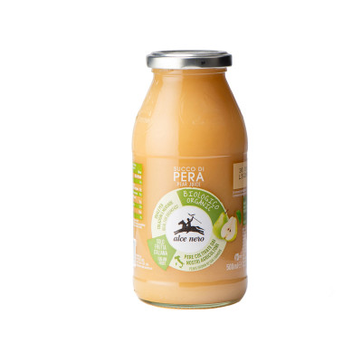 pear juice-alce nero-500ml-organic juice-organic pear juice