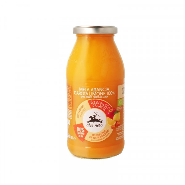 Organic juice-alce nero-500ml-organic orange, apple, carrot and lemon juice-juice