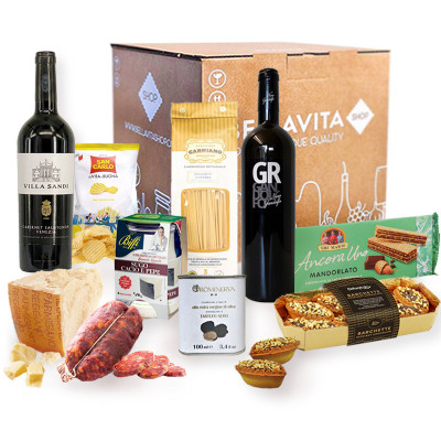 italian tour hamper-italian tour box-italian food-wine-pasta-cheese-italian product