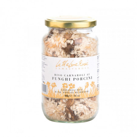 Carnaroli Rice with Porcini Mushrooms (400gr)-400g-Rice-la malva rosa-rice with porcini mushrooms-carnaroli rice