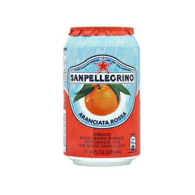 Sparkling blood orange-san pellegrino-33cl-orange lemonade-drink-sparkling orange-aranciata