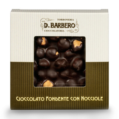 Dark Chocolate with Hazelnuts (120 gr)-Dark chocolate-barbero-dark chocolate with hazelnuts