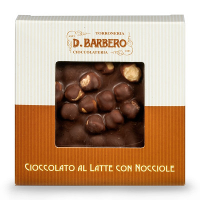 Milk Chocolate with Hazelnuts (120gr)-milk chocolate-barbero-120g-milk chocolate with hazelnuts