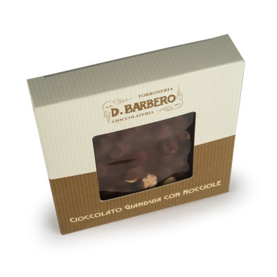 Gianduja Chocolate with Hazelnuts (120gr)